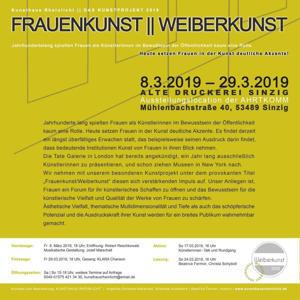 Ausstellung im Kunsthaus Rheinlicht: Frauenkunst / Weiberkunst